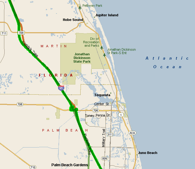 East Coast Beaches Road Trips With Beach Pictures - Florida east coast map