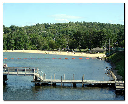 Weirs Beach view from pier