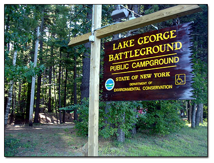 Lake George Battleground Campground