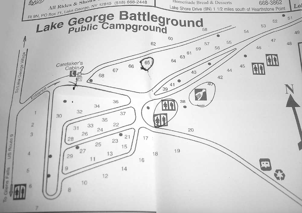 Lake George Campground Battleground Pictures – Lake George Tourist Map