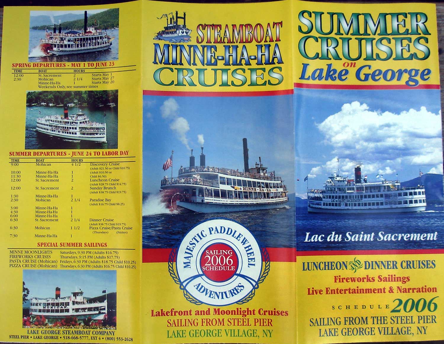 Lake George Campground Battleground Pictures - Cruise ship brochure