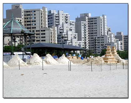 Sand Castle Competion At Revere Beach